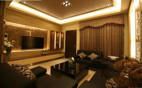 客厅影视墙效果图 智能空间巧方案