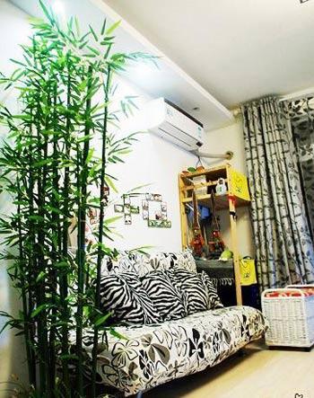 家装竹子隔断效果图