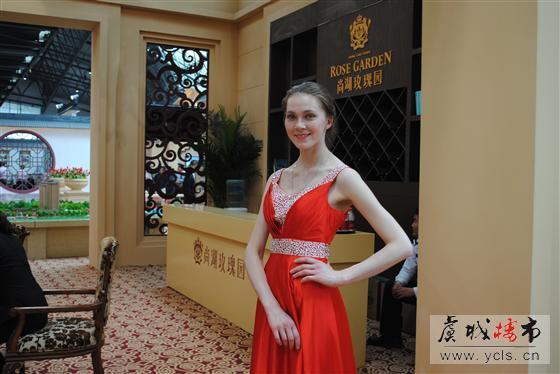 房展会上的俄罗斯美女